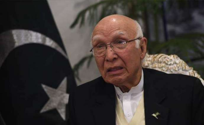 India is straddling in pursuing with Pakistan, Sirtaj Aziz