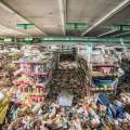 Abandoned supermarkets got raided by animals that were left behind