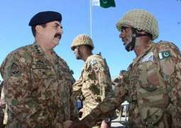 Chief of Army Staff General Raheel Sharif visited the Line of Control