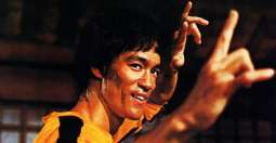 African youth came into field to be Bruce Lee