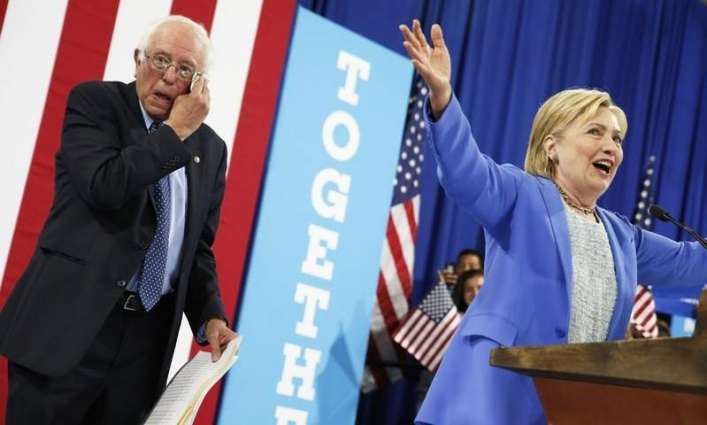 Bernie Sanders announced Clinton's support