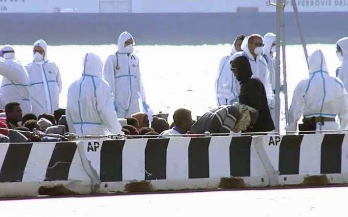 اټاليې د ليبيا په سمندر كښې 3200 ګډوال د ډوبېدو نه وساتل