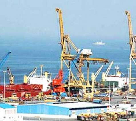 Shipping activity at Port Qasim