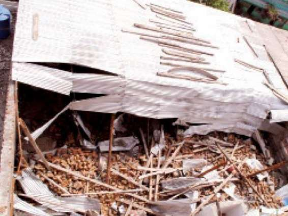 Two women injured in roof collapse incident