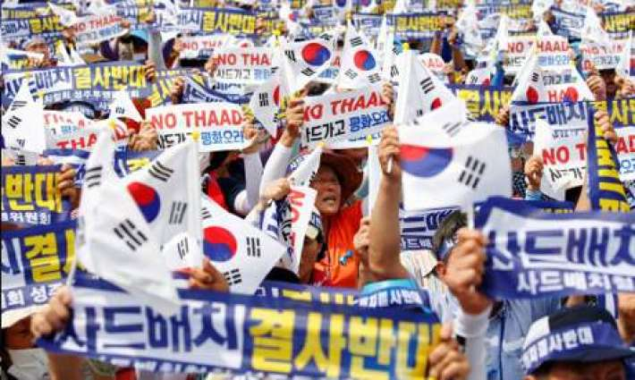 Protests as S. Korea president defends US anti-missile system