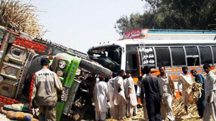 Two passengers killed in bus-truck collision