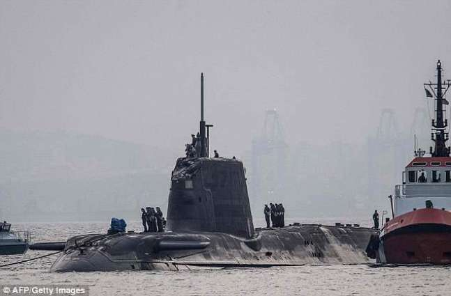 British nuclear submarine docks in Gibraltar after collision
