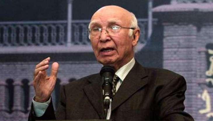 مستشار رئيس الوزراء الباكستاني للشؤون الخارجية: باكستان تكثف جهودها الدبلوماسية لتوعية المجتمع الدولي حول الأعمال الوحشية ضد الكشميريين من قبل الهند في كشمير المحتلة