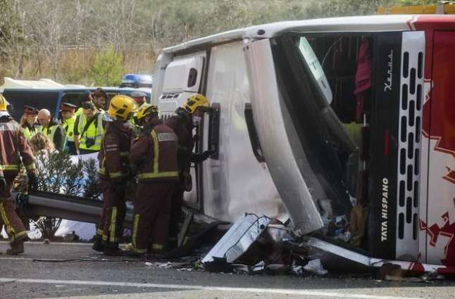 13 injured in Welsh bus accident in France