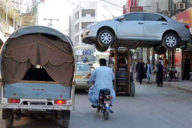 Vehicle lifted in Quetta