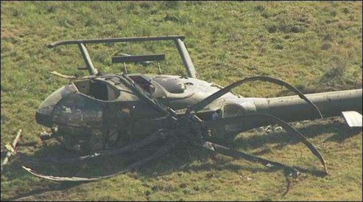 China: Helicopter crashed, pilot safe