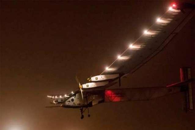 Solar Impulse, Si2, landed in Abu Dhabi