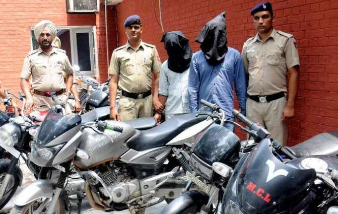 Two held, 12 motorcycles recovered