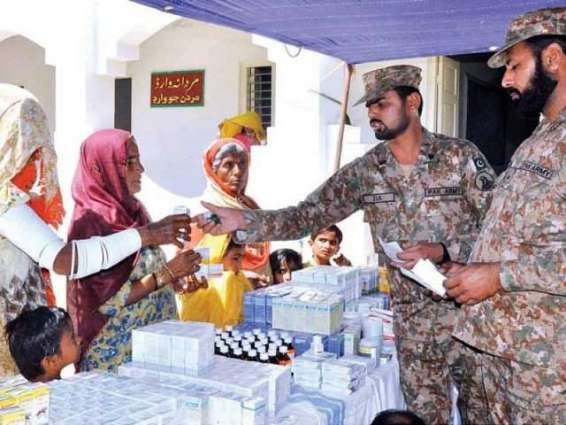 Army sets up relief camp in district Tharparkar