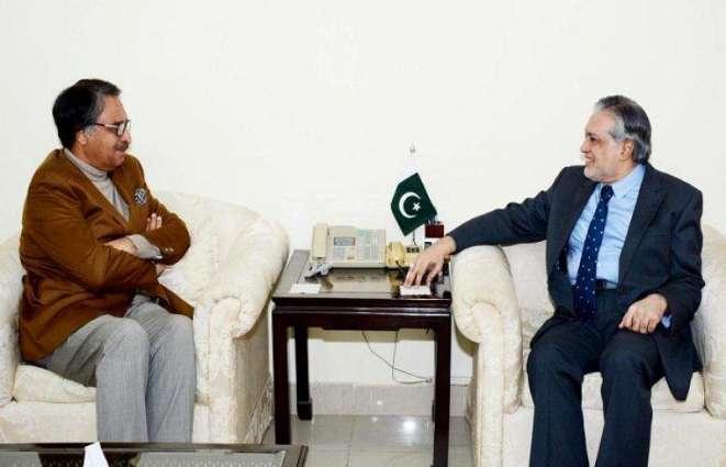 Jalil Abbas Jillani meets Ishaq Dar
