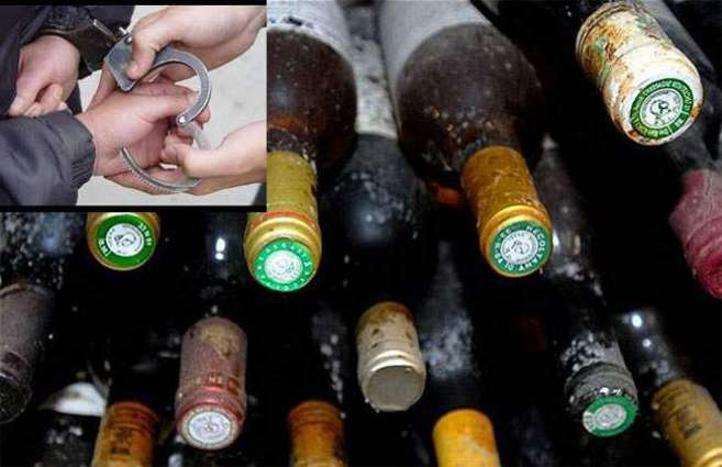 Three arrested, liquor seized