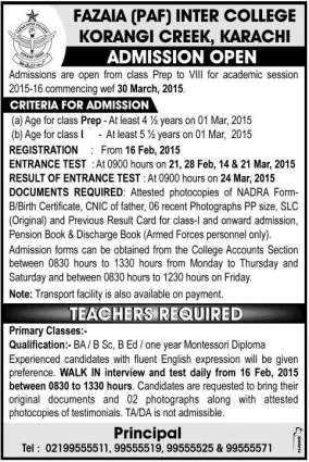 Criteria for admission to class XI for 2016-17