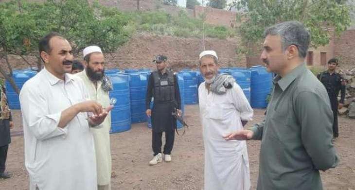 60 poor families get water tanks in Khyber Agency