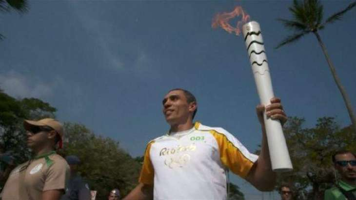 The Olympic torch traveled around the world, arrived in Rio