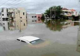 Flood In Hernai washed away 5 vehicles, 5 dead.