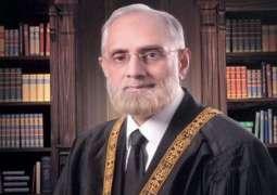 CJ Saqib Nisar and Justice Ejaz Afzal arrived at CMH along with CJ Noor Muhammad Muskanzai