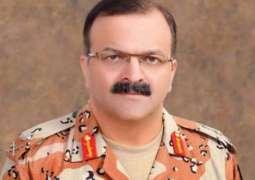 DG Rangers Maj Gen arrived at Expo Center, Karachi