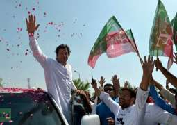PTI Chairman Had narrow escape from accident