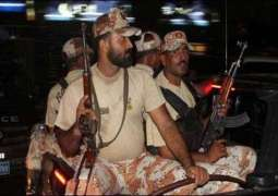 Rangers Operation in Shah Faisal and Saudabad, 4 arrested for attacking on private TV