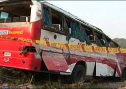 2 passenger buses crashed into each, 2 dead and 11injured in accident