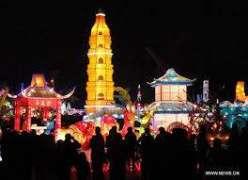 Light show began in Suzhou, east China's Jiangsu Province