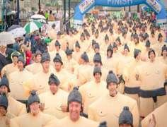 Ireland: Sumo Race held in Bray