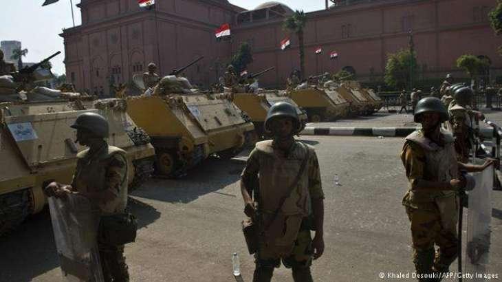 مصر، فوج دا رفاح وچ دہشتگرداں دے اسلحے اتے گولہ بارود دے ڈیپو تے حملہ،  46 دہشتگرد ہلاک