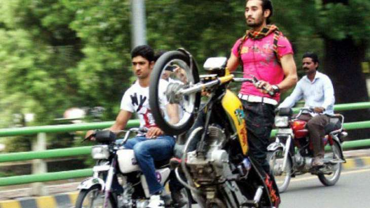 1,697 motorcycles impounded, four FIRs lodged against one-wheelers