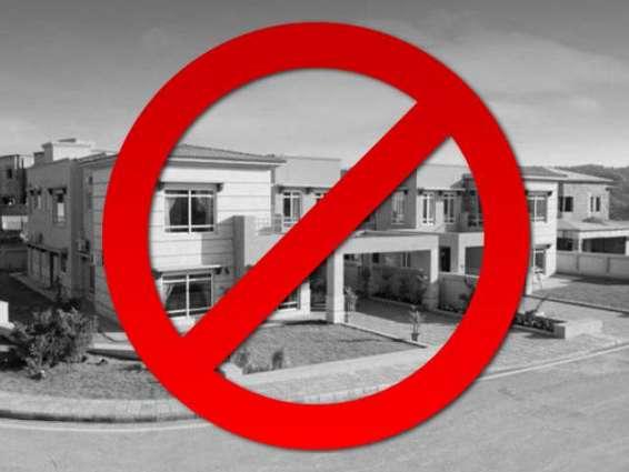 FDA declares three housing colonies illegal