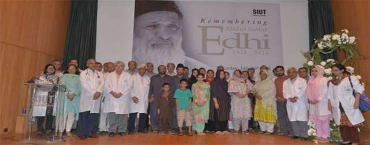 Speakers pay tribute to Edhi for his charitable endeavours