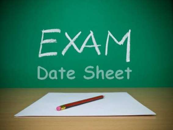 PU issues date sheets of various disciplines