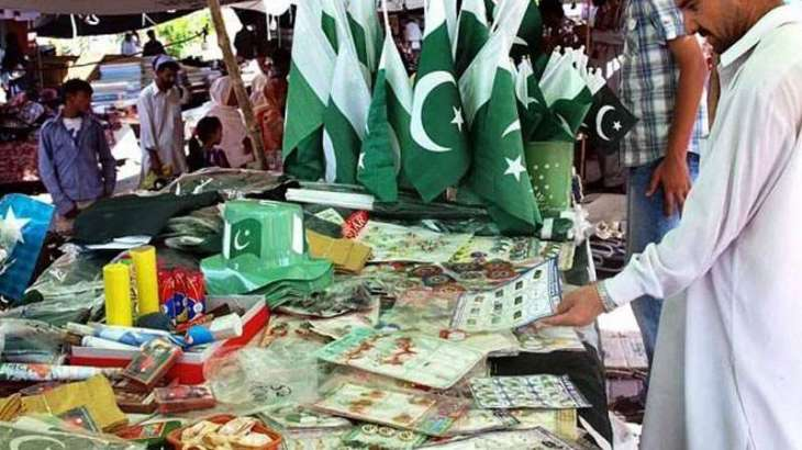 Preparations for the Independence Day gaining momentum in Sukkur, Larkana