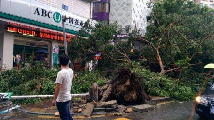 Hong Kong engulfed in storm