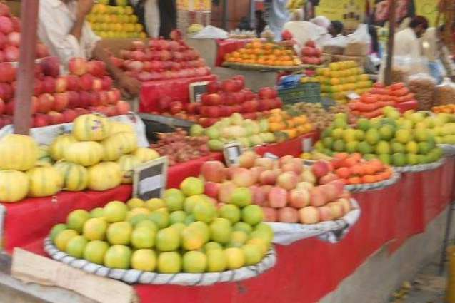 Daily price list of fruit, vegetables