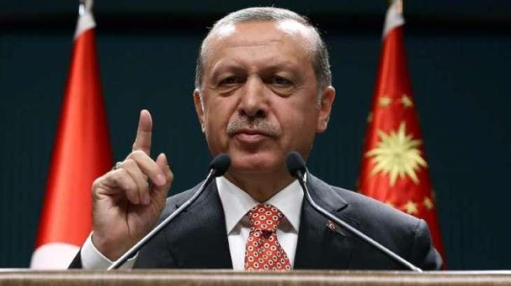 Erdogan says coup was 'scenario written from outside' Turkey