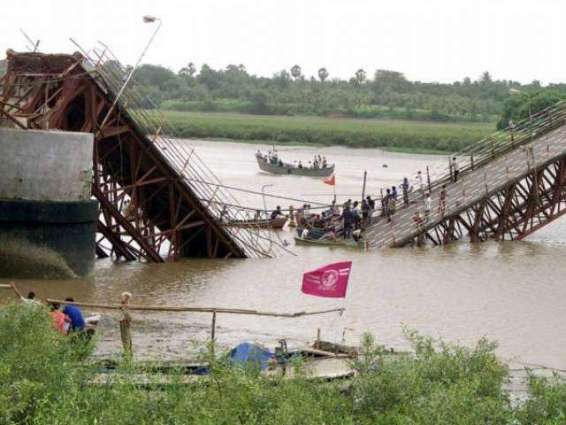 22 missing after India bridge collapse