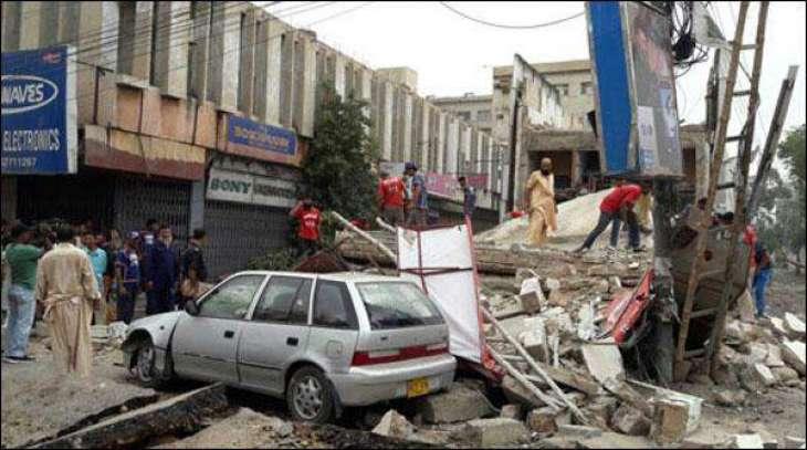 Karachi: Abdullah Haroon Road building collapsed, 10 injured