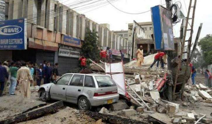 Building collapse, two injured