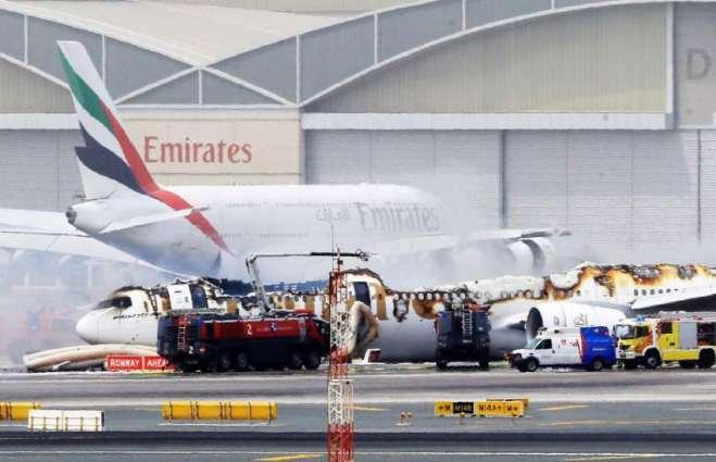 Emirates plane in accident on landing in Dubai