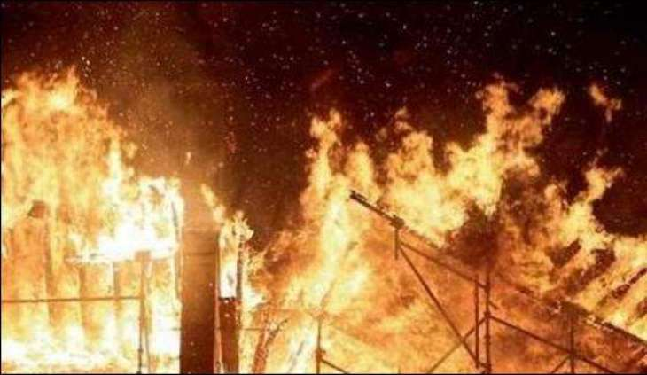 The generators warehouse caught fire at Pico Road, Lahore