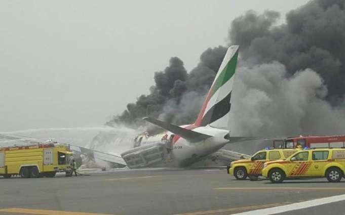 Emirates plane crash-lands in Dubai