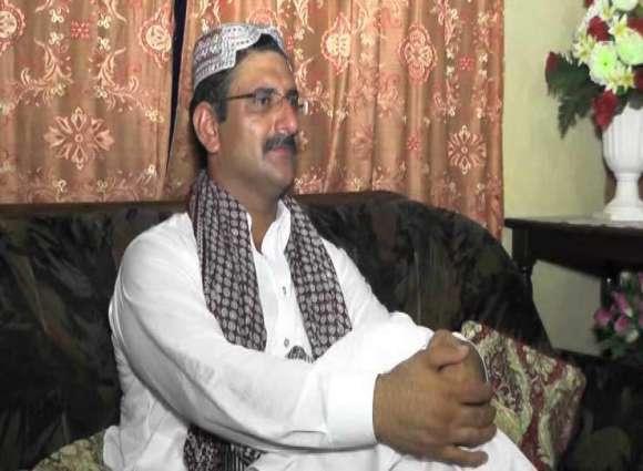 A replica Of Sindh CM Syed Murad Ali Shah