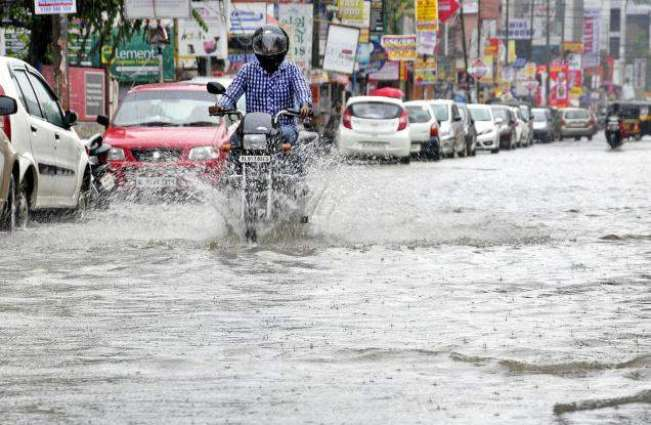Rain lashes city