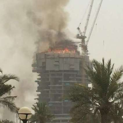 Fire erupted in an under construction building in Dubai