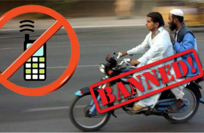 Pillion riding banned in city